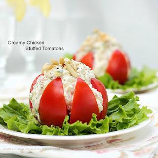 Creamy Chicken Stuffed Tomatoes.