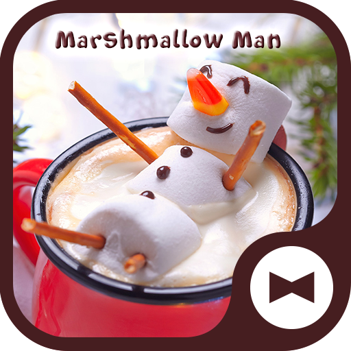 Cute Wallpaper Marshmallow Man Theme Icon