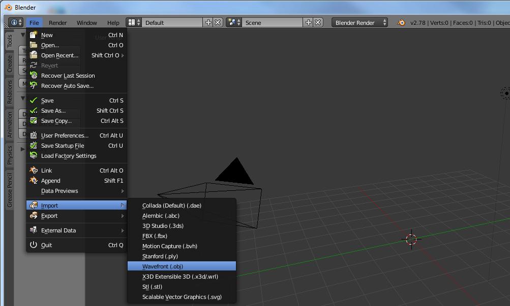 Import 3D model