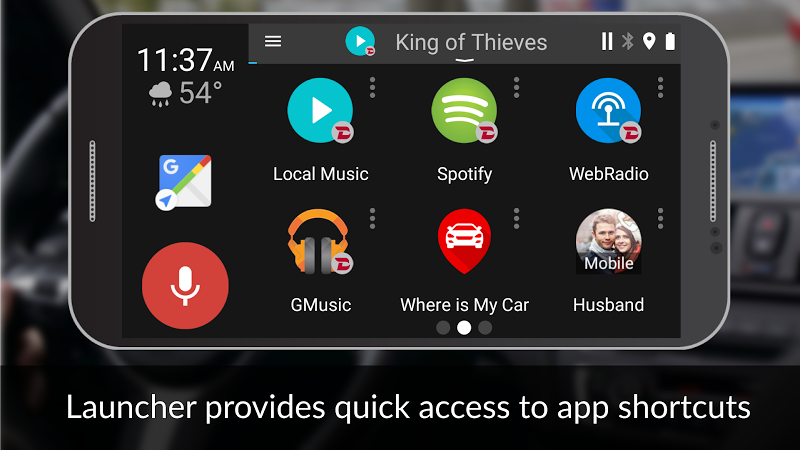 Dashlinq - Car Dashboard Launcher Screenshot 0