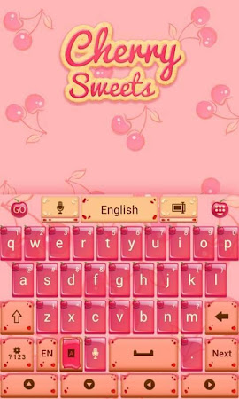 Cherry Sweet GO Keyboard Theme 3.87 screenshot 1282611