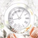 Clock Winter Rose LWP icon