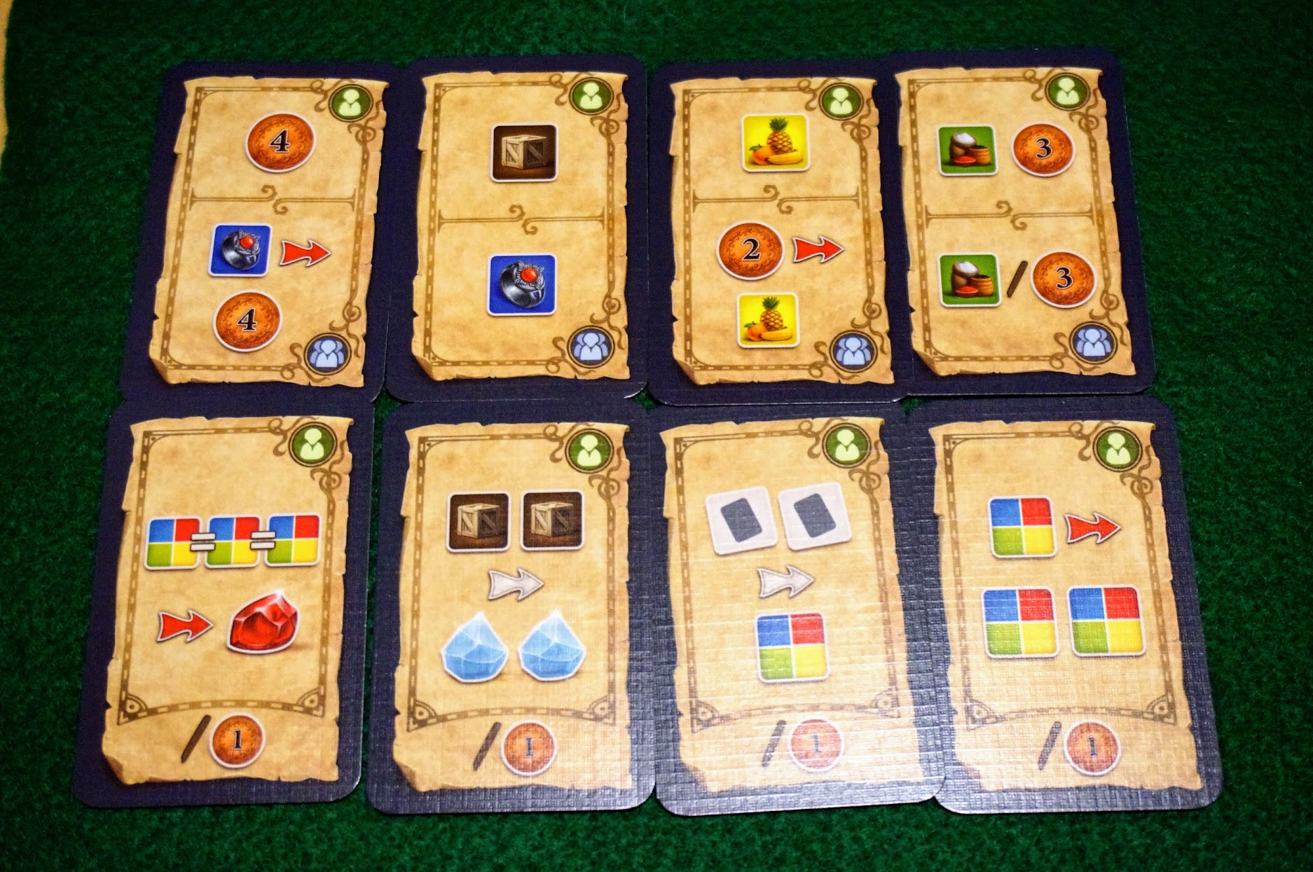 イスタンブール:ダイスゲーム:カードの獲得