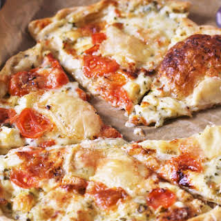 Brie and Tomato Tart.
