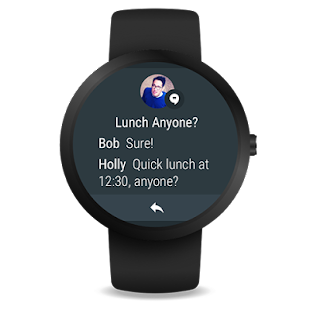 Android Wear - Smartwatch: miniatura de captura de pantalla