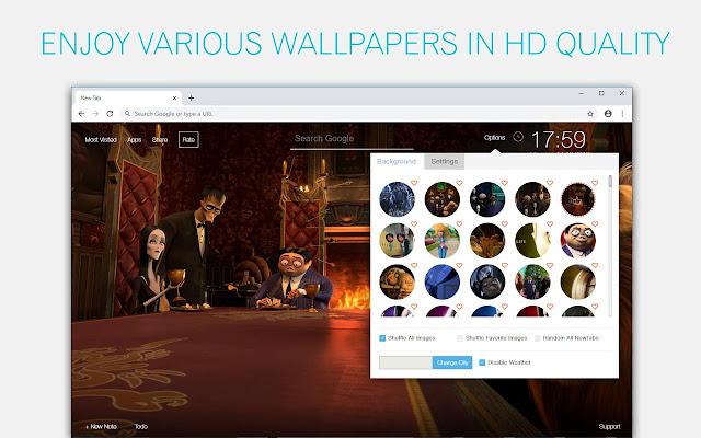 The Addams Family Wallpaper HD Custom New Tab