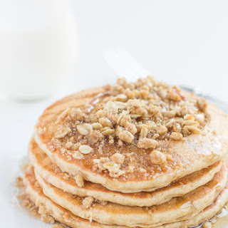 Whole Wheat Apple Crisp Pancakes