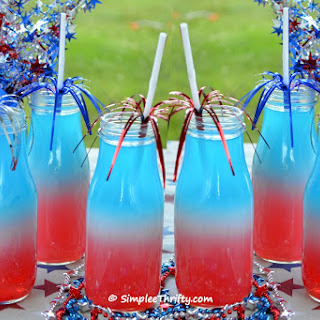 Patriotic Red White and Blue Layered Drink Recipe
