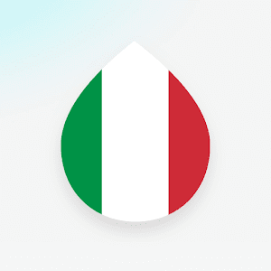 Learn Italian language and words for free Drops 34.62 by Language Drops logo