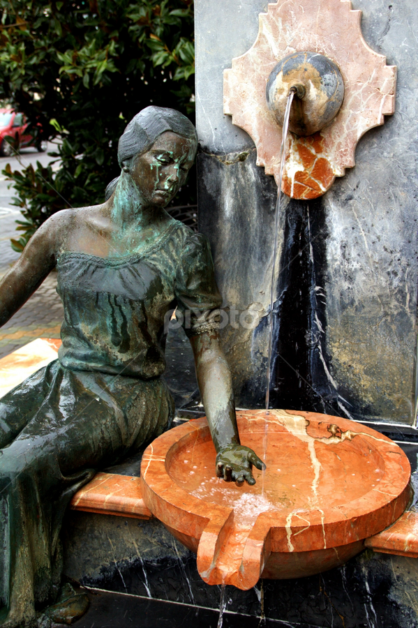Woman Statue by Marko Tamela - Buildings & Architecture Statues & Monuments ( abstract, water, statue, woman, fountain )