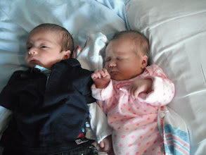 Photo: Coleman Joseph George and Audrey Anne Martin-May, born about a week apart!