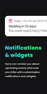 Hurry - Countdown to Birthday/Vacation (& Widgets) Screenshot