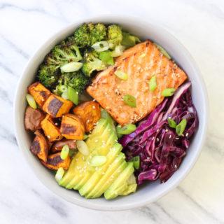 Miso Sesame Salmon Bowl Recipe