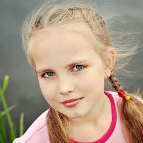 by Nadezda Tarasova - Babies & Children Child Portraits ( girl, beautiful, nice, close-up, portrait )