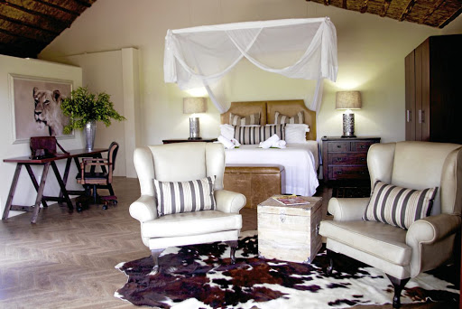 Special reserve: The bedrooms at Becks Safari Lodge are decorated in elegant safari chic.    Supplied