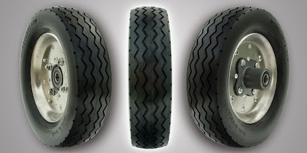 Photo: Foam Tire Replacement wheels for professional grade hand trucks rated at 600 lbs capacity.