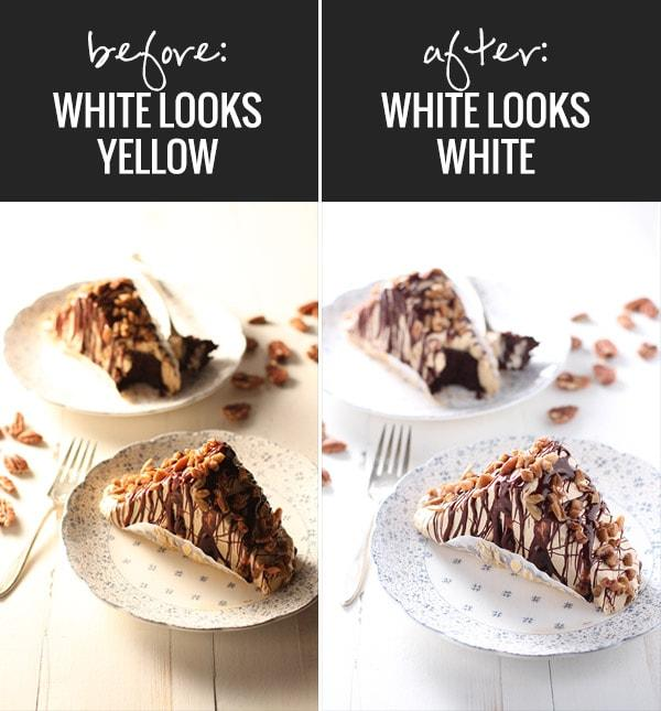 Before and after food photos.