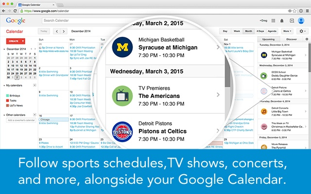 UpTo for Google Calendar chrome extension