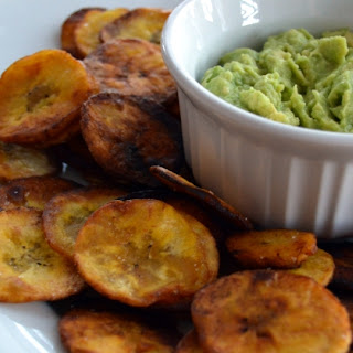 Paleo Plantain Chips and Easy Guacamole