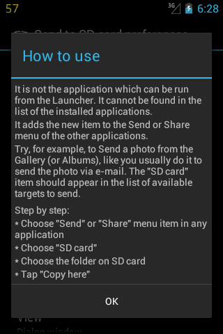 Send to SD card screenshot 4
