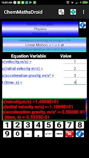 ChemMathsDroid Engineering,Chemical,Maths tools 10