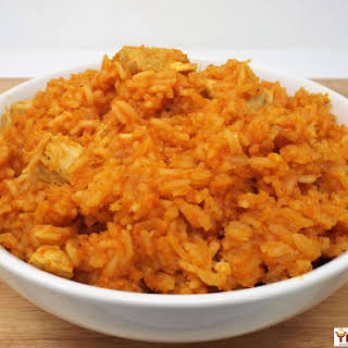 Jollof Rice with Chicken.