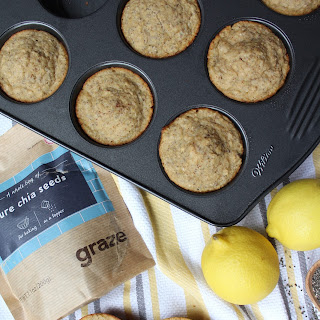 Healthy Lemon Chia Seed Muffins.