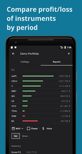 Investment portfolio, stocks, etf, forex, crypto  Paidproapk.com 3