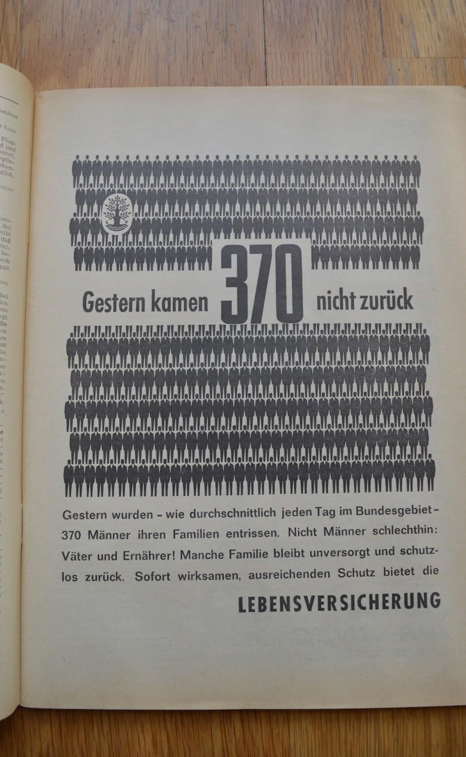 DER SPIEGEL, 29. April 1964 - Werbung für Lebensversicherungen