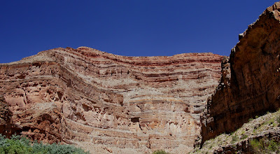 Photo: Looking up to the Overlook from river level.