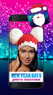 New Year Hat Photo Montage - náhled