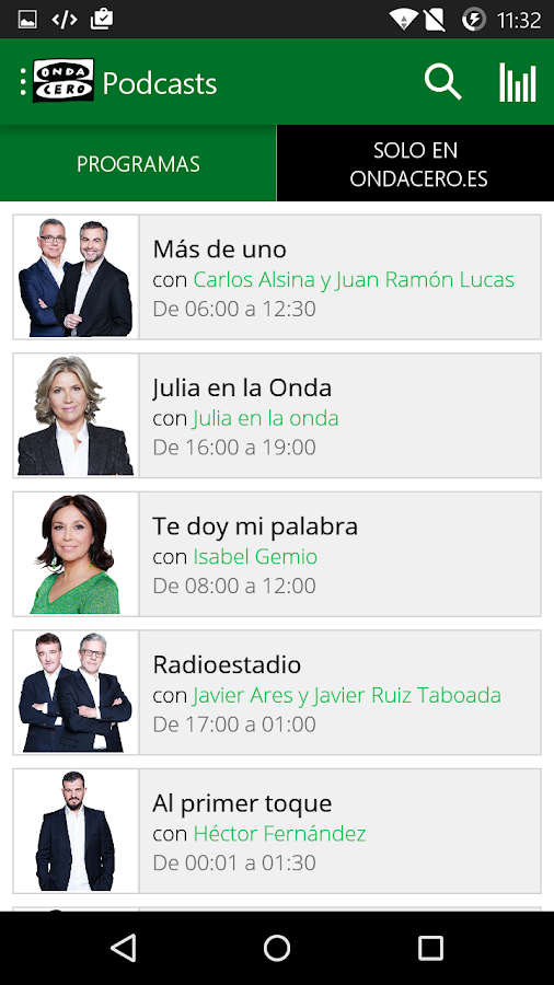 Onda Cero Radio- screenshot