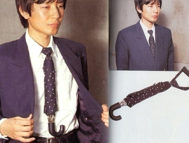 A tie that can protect you in the rain.