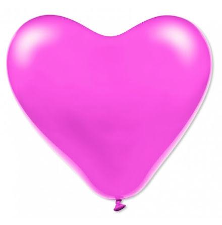 Ballonghjärtan - Rosa