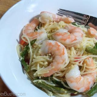 15 Minute Shrimp & Asparagus Pasta.