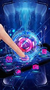 Neon Energy Star Ball Theme - náhled