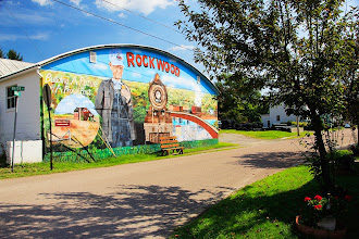 Photo: Murale dans le petit village de Rockwood, sur la Great Alleghany Passage.
