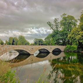 Pitfour bridge by Derek Robinson - Buildings & Architecture Bridges & Suspended Structures ( pitfour, aberdeenshire, bridge, lake, scotland )