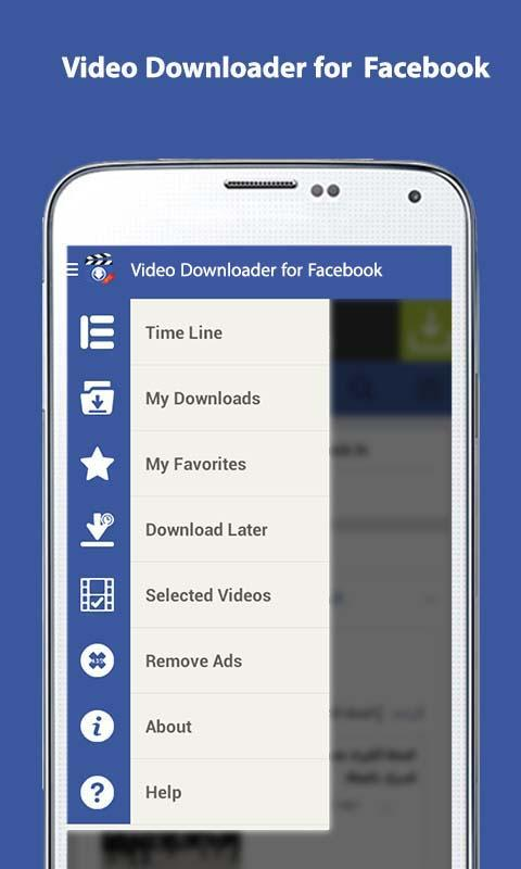 Video downloader for facebook android apps on google play video downloader for facebook screenshot ccuart Images