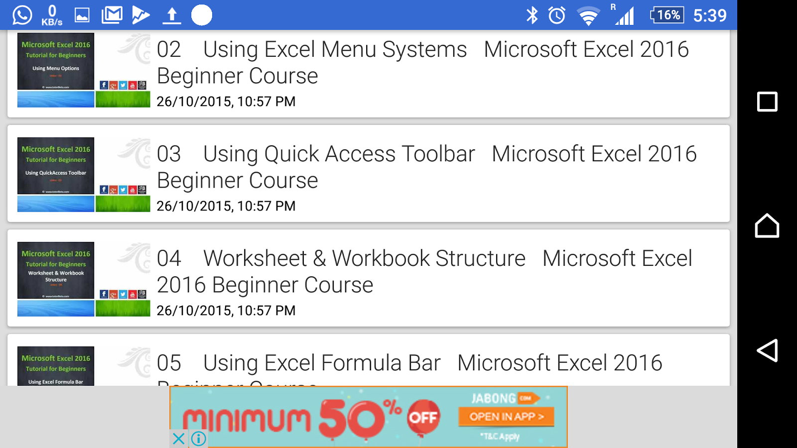 Workbooks microsoft excel workbooks : Tutorial For Excel 2016 - Android Apps on Google Play