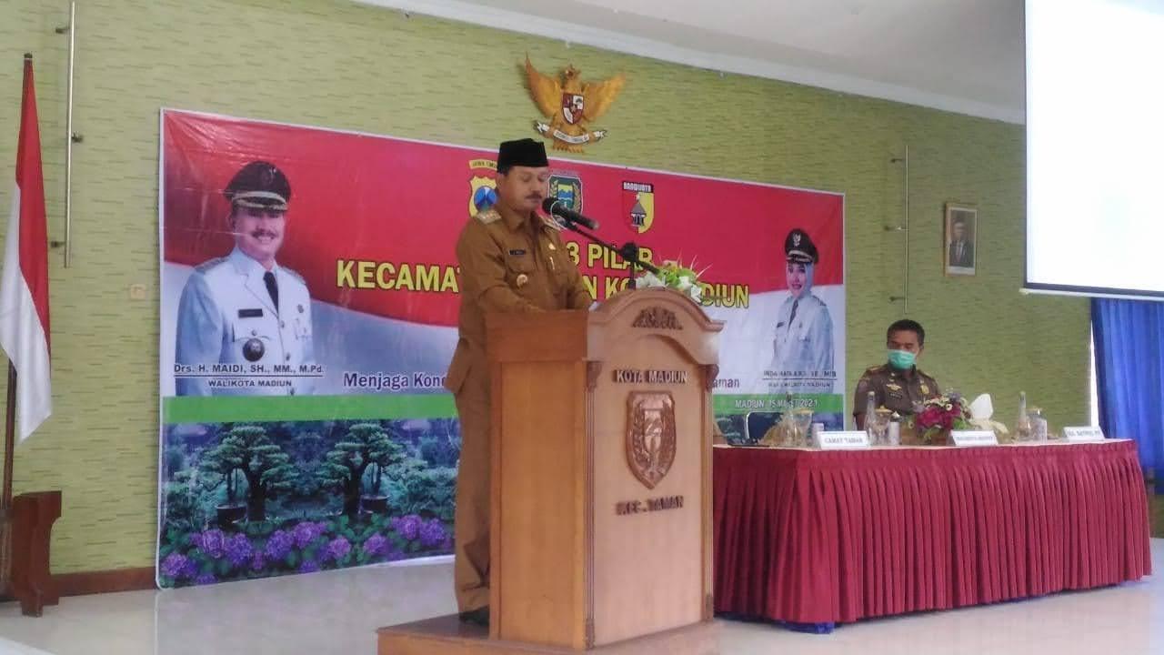 Walikota Madiun Mengajak Semua Lapisan Masyarakat Menjaga Kondisifitas Kamtibmas