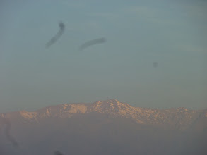 Photo: Not the best photo, but you can see the mountains here