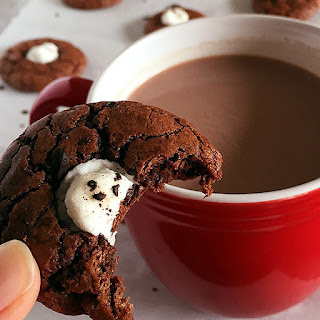 Miniature Hot Chocolate Cookies