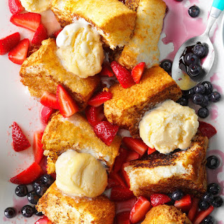 Grilled Angel Food Cake with Strawberries.