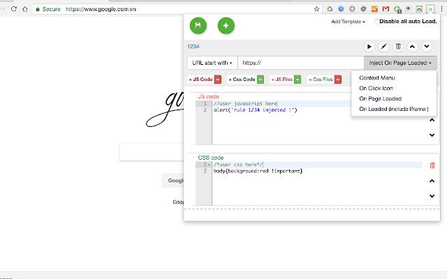 Javascript & Css auto injection