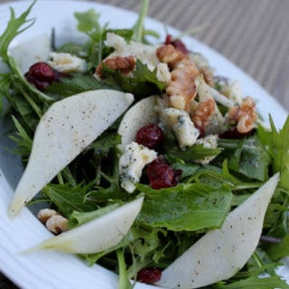 Pear Cranberry Walnut Salad