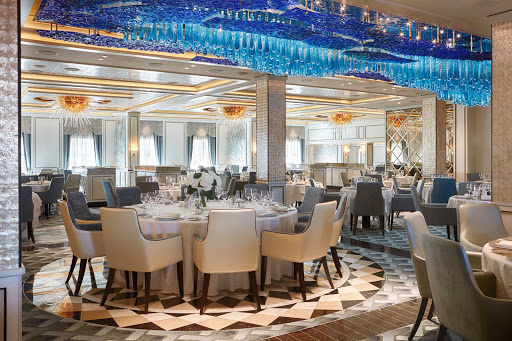 seven-seas-explorer-Compass-Rose.jpg - Enjoy expertly prepared Continental cuisine at Compass Rose on Seven Seas Explorer, the flagship restaurant of the Regent fleet.