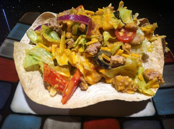BAKE FOR FIVE MINUTES OR UNTIL CRISPY...PERFECT EDIBLE PLATE  FOR MY TACO SALAD...ENDLESS...