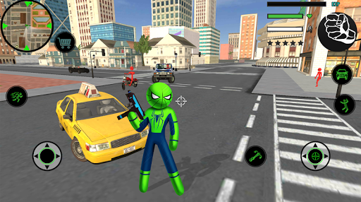 Spider Stickman Rope Hero  2 - Gangster Crime City 1.5 screenshots 4