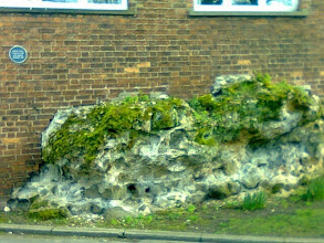 Photo: Down Manor House street at the rear of Heron, one of the chunks of the Roman Occupation still remains. No evidence of 'Romans Go Home' written anywhere though.